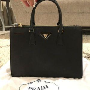 Black Prada Saffiano satchel